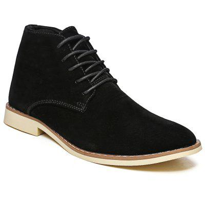 High Neck Casual Suede Boots Men