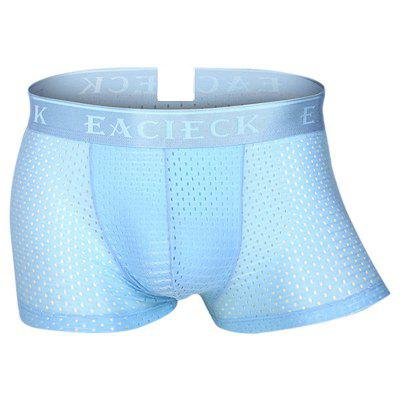 Breathable Ice Silk Sexy Mesh Thin U Convex Boxer Briefs for Men