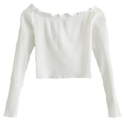 New Woman Design of Short Chest Tie A Knot Off Shoulder Bare Midriff