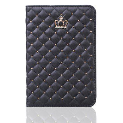 Quilted Premium PU Leather Crown Design Case Cover for iPad Mini 1 / 2 / 3