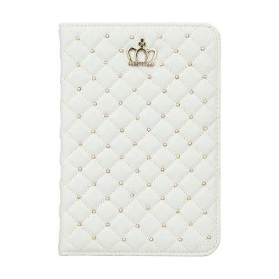 Quilted Premium PU Leather Crown Design Stand Cover Case With Auto Wake / Sleep for  iPad Mini 4 (2015 edition) 7.9
