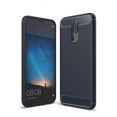 Shockproof Back Cover Solid Color Soft Carbon fiber Case for Huawei Mate 10 Lite / Maimang 6