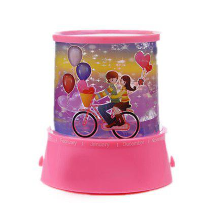The Bike Lover Show Round USB Power Projection Lamp