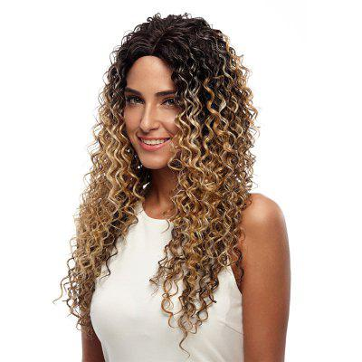 Rebecca Synthetic Hair Long Lace Front Kinky Curly Ombre Wig 26 Inch RC0663 kinky curly lace front wig synthetic black woman with baby hair