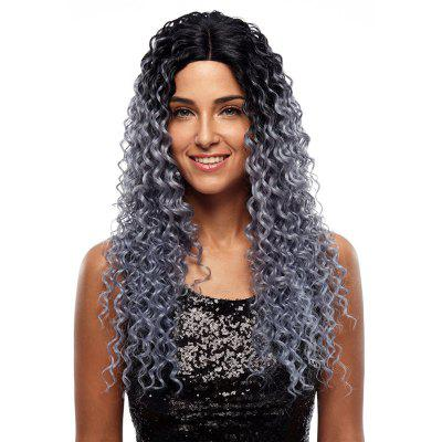 Rebecca Synthetic Hair Long Lace Front Kinky Curly Ombre Wig 26 Inch RC0663