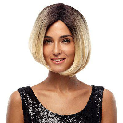 Rebecca Ombre Synthetic Hair Bob Blonde Wig Hair Straight 10 Inch RC0643