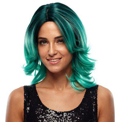 Rebecca Synthetic Hair Skin Part Lace Wig Ombre Color Wavy Lace RC0672