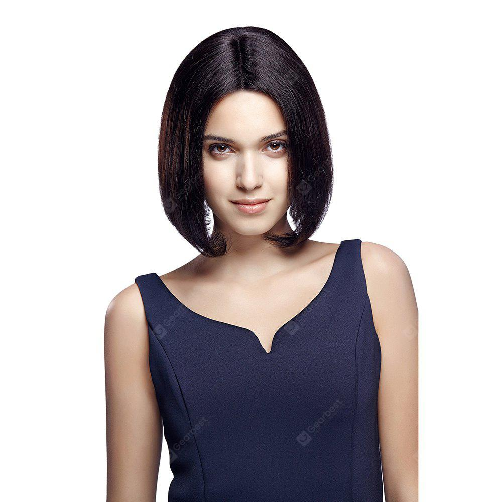 Rebecca Remy Human Hair Lace part front wig Medium Straight style For Women RC0912
