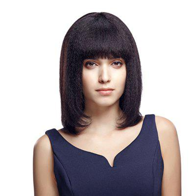 Rebecca Remy Human Hair Wig Medium Straight Bob Straight Yaki Wig For Women RC0500