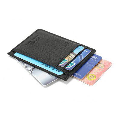 Genuine Leather Slim Card Holder Credit Cards Organizer Small Thin Purse
