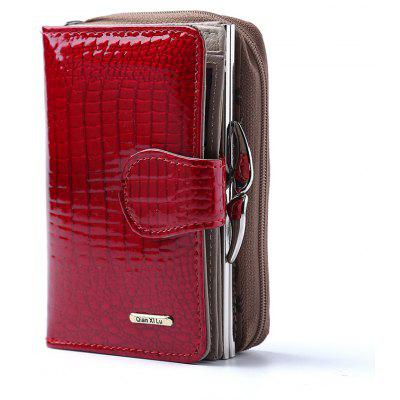Fashion Real Patent Leather Women Short Wallets Small Wallet Coin Pocket Credit Card Wallet Female Purses Money Clip