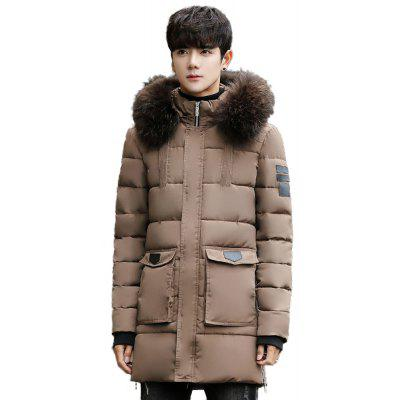 Fashion Parka Casual Winter Jackets Warm Long Hooded Coat
