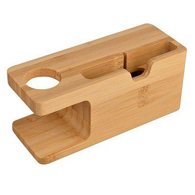 Bamboo Wood Charging Station Dock Stand Bracket Cradle Mount Holder For Iwatch 38mm And 42mm Iphone