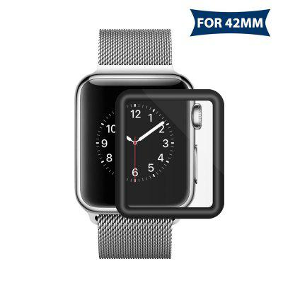 Tempered Glass For Apple Watch 42mm Series 3D Full Cover Curved Black Edge Screen Protector