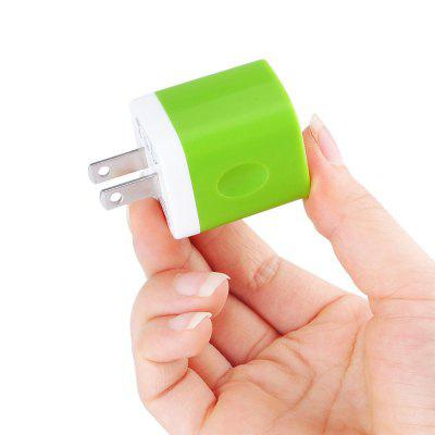 USB Wall Charger Charger Adapter Dual Port Quick Charger Plug Cube