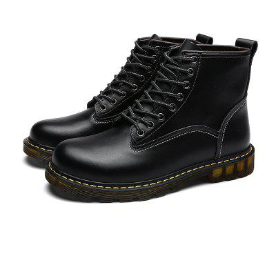 """Autumn and Winter Fashion Comfortable Clean Color MenS ShoesMens Boots<br>Autumn and Winter Fashion Comfortable Clean Color MenS Shoes<br><br>Boot Height: Ankle<br>Boot Type: Fashion Boots<br>Closure Type: Lace-Up<br>Embellishment: None<br>Gender: For Men<br>Heel Hight: Flat(0-0.5"""")<br>Heel Type: Others<br>Outsole Material: Rubber<br>Package Contents: 1xShoes(pair)<br>Pattern Type: Solid<br>Season: Winter, Spring/Fall<br>Toe Shape: Round Toe<br>Upper Material: PU<br>Weight: 1.2800kg"""