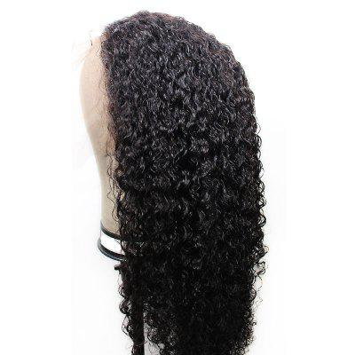Cheap Woman Synthetic Lace Front Wig Afro Kinky Curly 180 Percent Heavy Hair Density With Baby Hair 180 density cheap italian yaki full lace