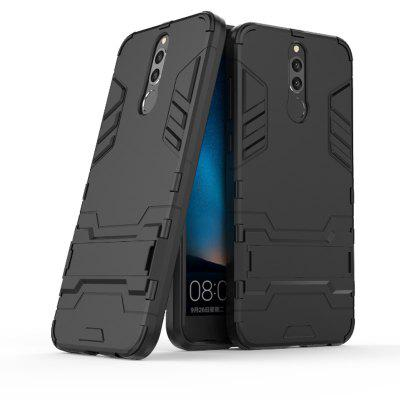 Siliconen PC Armour Kickstand Case voor Huawei Mate 10 Lite