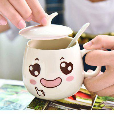 Buy eramicsExpressio Handle mug with cover of coffee cup Facial expression 2xpcs  COLORMIX for $6.21 in GearBest store