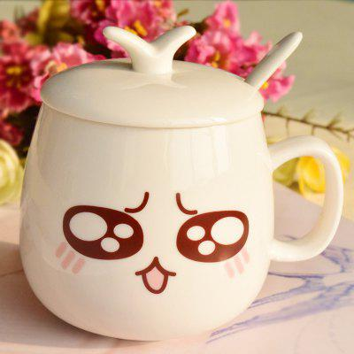 eramicsExpressio Handle mug with cover of coffee cup  Facial expression    2  x  pcs