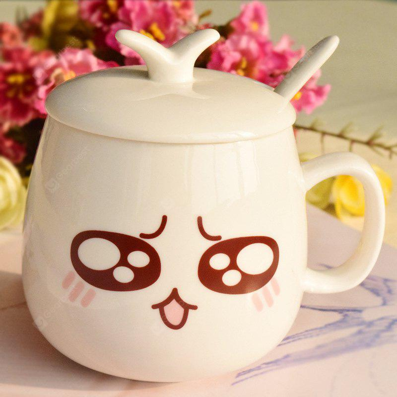 eramicsExpressio Handle mug with cover of coffee cup Facial expression 2xpcs  COLOR MIXING
