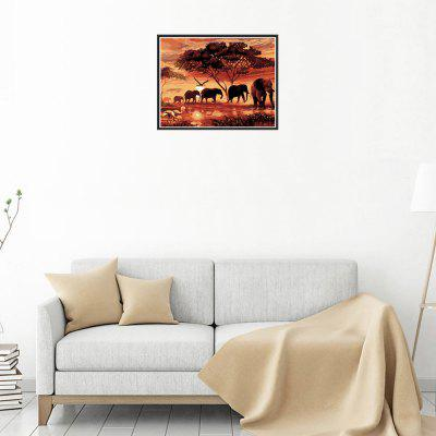 Naiyue 7200 Sunset Elephants Print Draw Алмазный рисунок