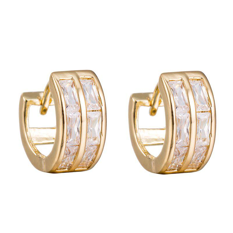Simple and Fashionable Square Zircon Earrings ER0147
