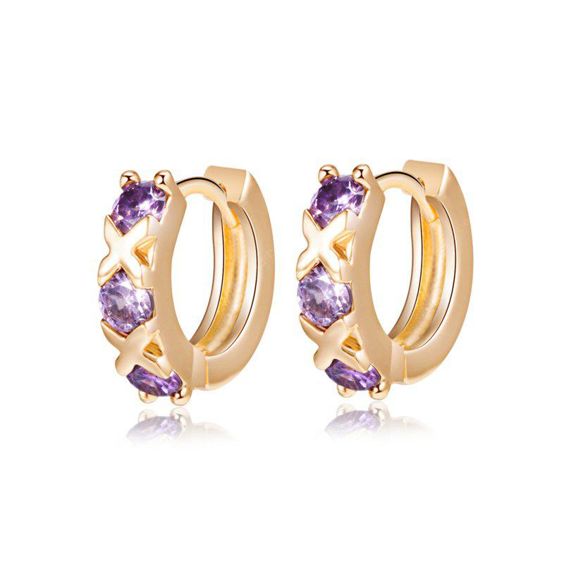 Fashion color Zircon Earrings ER0150