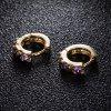 Fashion color Zircon Earrings ER0150 - PURPLE