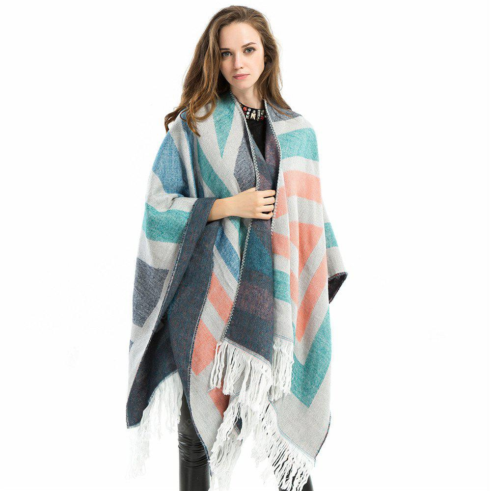 Z1567 new striped fringed shawl