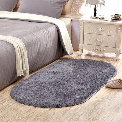 Buy GRAY 80X120CM Home Floor Rug Modern Simple Solid Supple Comfy Bedside Mat for $23.57 in GearBest store