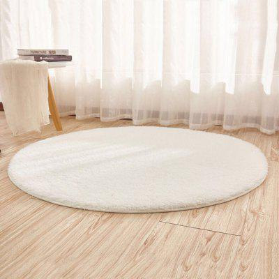 Floor Mat Breif Style Solid Yoga Thick Soft Antiskid Round  Decorative Mat
