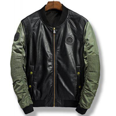 Locomotive Casual PU Baseball Jacket