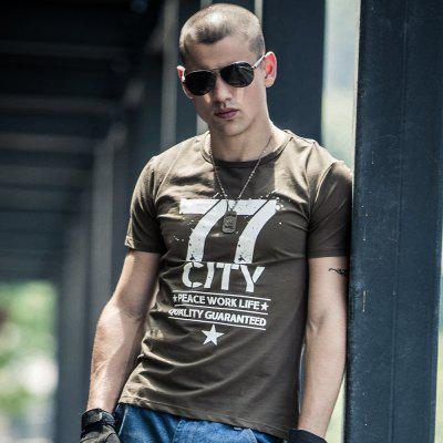 2018 New Short Sleeved T-Shirts in SummerMens T-shirts<br>2018 New Short Sleeved T-Shirts in Summer<br><br>Collar: Round Neck<br>Fabric Type: Satin<br>Material: Cotton<br>Package Contents: 1 x T-shirt<br>Pattern Type: Letter<br>Sleeve Length: Short Sleeves<br>Style: Casual<br>Weight: 0.3000kg