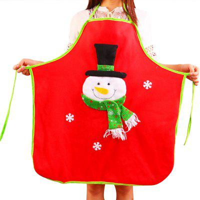 Christmas decorations Christmas non-woven elderly decals apron Christmas Day family party household items
