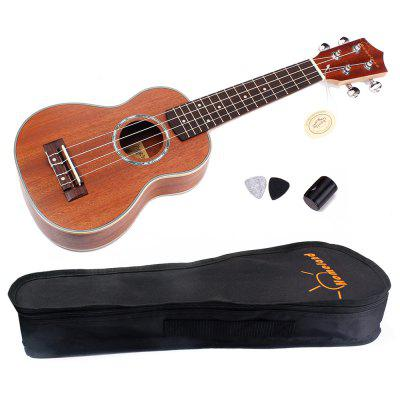 Buy WOOD 4 Strings Ukelele Hawaiian Mahogany Guitar Fretboard and Bridge for $51.86 in GearBest store