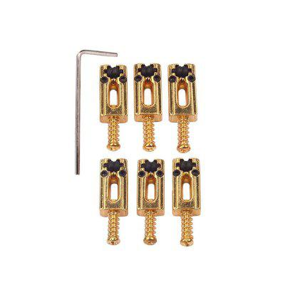 6Pcs Bridge Tremolo Roller Saddles for ST TL Guitar WrenchOther Musical Instruments<br>6Pcs Bridge Tremolo Roller Saddles for ST TL Guitar Wrench<br><br>Manner of Articulation: Other<br>Material: Metal<br>Number of Holes: Other<br>Package Contents: 6 x Saddles,1 x Wrench<br>Package size: 9.00 x 6.00 x 2.00 cm / 3.54 x 2.36 x 0.79 inches<br>Package weight: 0.0530 kg<br>Product size: 8.00 x 4.00 x 1.00 cm / 3.15 x 1.57 x 0.39 inches