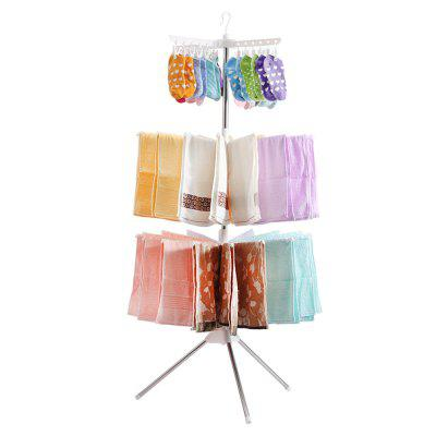 ORZ Folding Clothes Laundry Hangers 3 Tier Indoor & Outdoor Tripod Stand Drying Rack Underware Pants Pants Storage Holde
