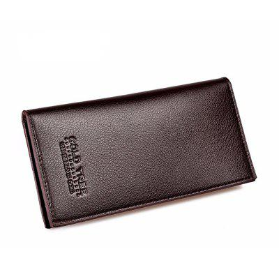 Men's Wallet Bussiness Solid Color Slim Long Style Purse