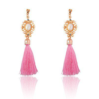 Temperament Ethnic Wire Tassel Drop Earrings Jewelry Accessory for Women