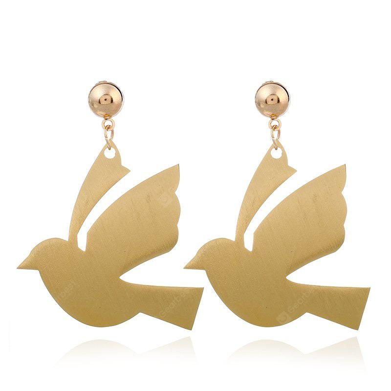 Fashion Metal Cute Gold Dove  Drop Earrings For Women