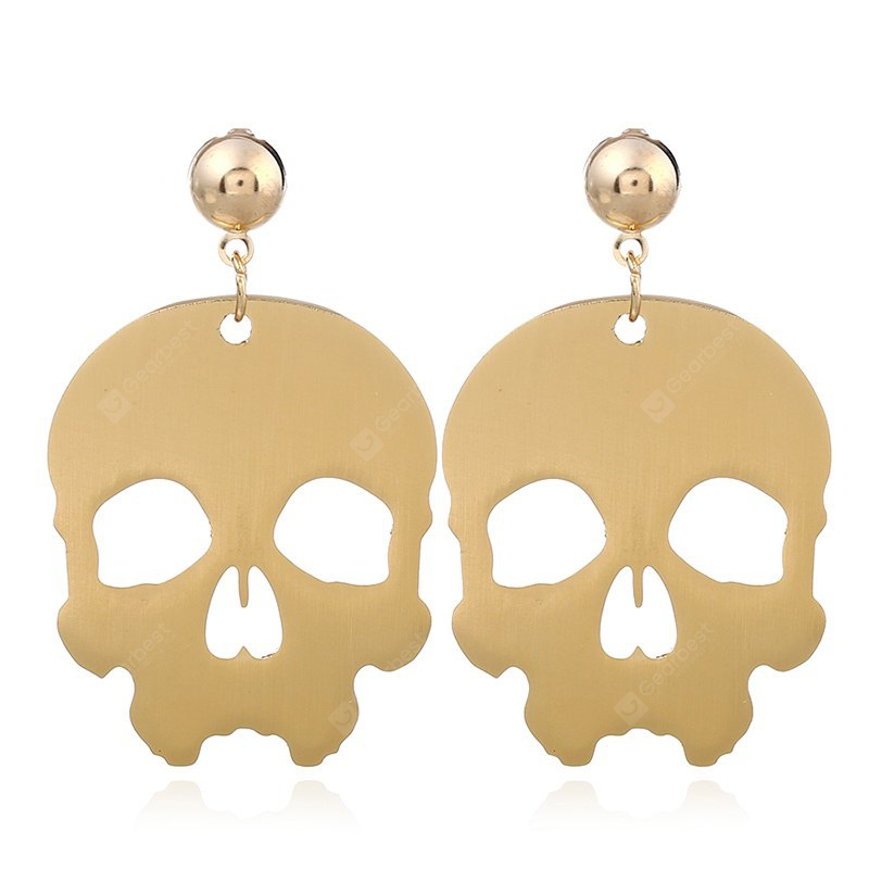 Fashion Rock Metal Skeleton Punk Drop Earrings For Woman