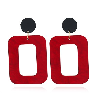 Trendy Classic Acrylic Crystal SquareDrop Earrings for Women