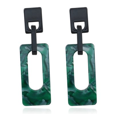 Vintage Trendy Acrylic Resin Square Drop Earrings For Women