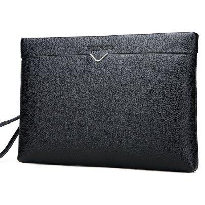 Business Soft-leather Men's Bag Large Clutch