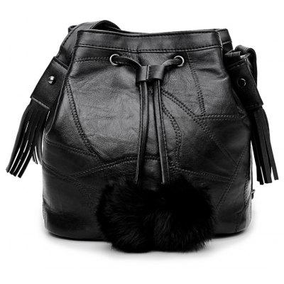 Bucket Bag Shoulder Bag Messenger Bag Plush Ball Handbags