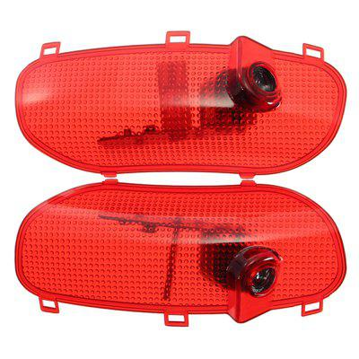 2Pcs 5W Car Logo Courtesy Door Welcome Decoration Light for Hyundai Sonata 8 Elantra Santafe