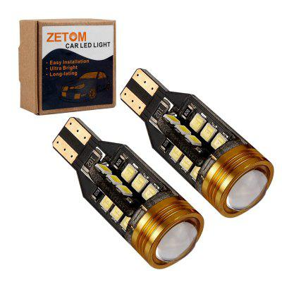 ZETOM Extremely Bright Error Free 921 912 T15 W16W 24SMD 1 COB 6000K Chipsets 2835 LED Bulbs Backup Reverse Light 2-Pack