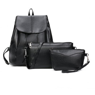 The New Women Pack The European and American Fashion Multi-Function Ladies Backpack  3pcs