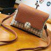 Borsa a tracolla retro a tracolla Fashion Lattice - BEIGE
